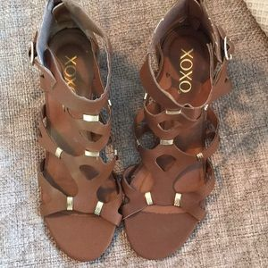 Brown sandals never worn